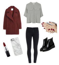 """""""Untitled #5"""" by nolwennbrc on Polyvore featuring PYRUS, Paige Denim, WithChic, MANGO, Uncommon, MAC Cosmetics, women's clothing, women, female and woman"""