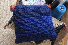 moonshine & wool cushion *azul*