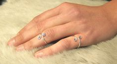 This sterling silver adjustable ring is perfect for everyday use and is ideal for all ages. The Crystals are 4 mm Diameter The Color of the crystals in the picture is Crystal Clear many more color options are available please choose your crystal color when you place your order. The