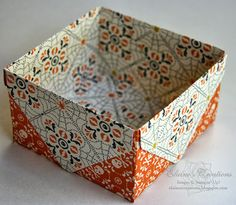 o create the box, I simply made four envelopes of the same size with the Envelope Punch Board and trimmed off the right flaps of each one.  ...