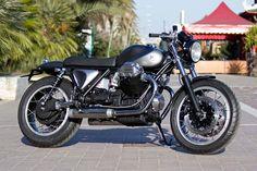 "Racing Cafè: Moto Guzzi 1000 SP ""Black Jack"" by Officine Rossopuro"