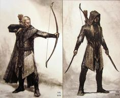Legolas concept art. It looks more like haldir. I can't spell his name I'm sorry people!