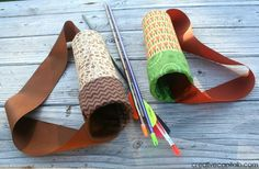 Capital B: Simple Upcycled, No-Sew Kids Quiver---boone would like it for his sword