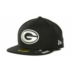 New Era Green Bay Packers 59FIFTY Cap (455 ARS) ❤ liked on Polyvore featuring mens, men's accessories, men's hats and black