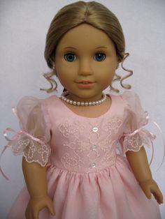 Pink Silk Organza Embroidered Dress. $155.00, via Etsy.