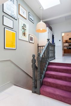 Woodwork on stairs - Downpipe - Farrow and ball