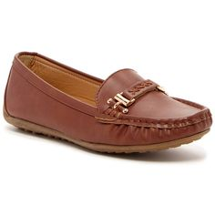 GODIVA Comfort Loafer ($30) ❤ liked on Polyvore featuring shoes, loafers, brown, brown slip on shoes, pull on shoes, slip on loafer, brown loafers и loafers & moccasins