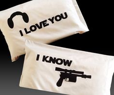 Star Wars Love Pillowcases | DudeIWantThat.com @Kristen Evans