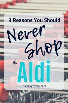 Discover why you should never shop at Aldi! There are plenty of reasons not to shop at Aldi, especially if you dislike staying on a grocery budget! Aldi Shopping List, Cheap Grocery List, Shopping Hacks, Aldi Grocery Store, Aldi Organic, Organic Recipes, Eating Organic, Aldi Recipes, Healthy Recipes
