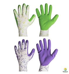 All Purpose Gardening Gloves from Khozi Offer Comfort, Protection, Water Resistance and Medium Fit with Soft Latex Foam Covering and Great Grip on Home and Garden Equipment, Get Your 2nd Pair Free Today! * You will love this! More info here : Gardening Supplies
