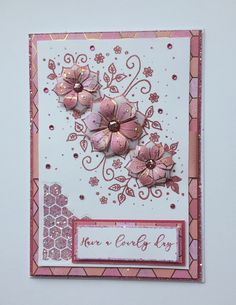 Card made using Chloe's Fantasy Flower Panel stamp and Papers by Chloe. Handmade Birthday Cards, Greeting Cards Handmade, Chloes Creative Cards, Stamps By Chloe, Heartfelt Creations Cards, Art Journal Techniques, Special Birthday, Flower Cards, Your Cards
