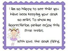 A Visit from the Desk Fairy!