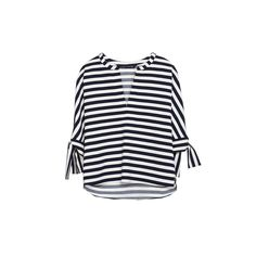 How To Dress Like A French Girl | The Zoe Report The Striped Blouse- Striped Tie-Sleeve Blouse, Zara $80