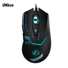 051dce7829e iMice Ergonomic Wired Gaming Mouse USB Optical Gamer Mouse Professional 6  Buttons Computer Game Mouse Mice For PC Dota 2 - Mobile Tekzone