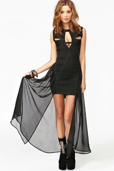 Godspeed Dress from nastyGal -  Oh. My. God.  I love this! It's like a super-heroine costume meets evening gown.