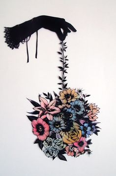 Paper cut out art by OHASHI Shinobu, Japan