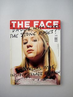 "The Face mag ""Teenage Britain"" issue - ""Daddy, who were the Stone Roses? The Face Magazine, Teen Life, Fashion Portfolio, Pulp Art, Magazine Design, Cover Design, Folk, Daddy, Editorial"