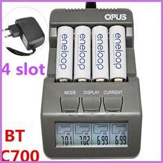 BT C700 Comprar 4 Ranuras Opus NiCd NiMh LCD Digital Inteligente AA AAA Cargador de Batería Adaptador de EE.UU. de LA
