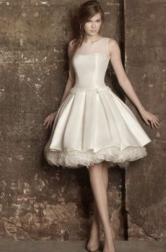 Vestido de novia corto... short wedding dress
