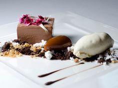 Manjari Emulsion – Smooth Manjari chocolate emulsion, chocolate soil, Murray River pink salt caramel, pure cocoa oil