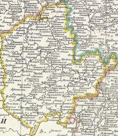 карта Ржевского уезда  1800 года