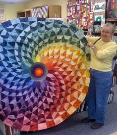 Round quilt #quilt