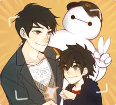 Tadashi, Hiro and Baymax. Seeing all of them together makes me so happy.
