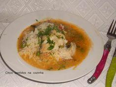 Cinco sentidos na cozinha: Arroz de bacalhau com ervilhas
