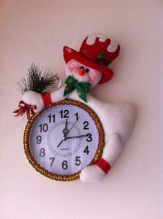 Aprende a como hacer reloj con muñeco navideño