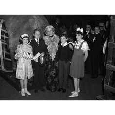 A very young Mickey and Judy with Freddie Bartholomew and Dame May Robson