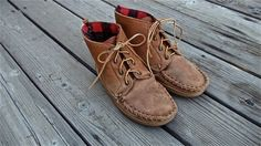 Vintage Men's Moccasin Lace up Leather Boot by CementTrampoline, $45.00
