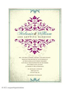 Sonata You Print Digital Wedding Invitation Design