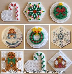 christmas bead hama patterns objects for fir - Laura Galan - - noel en perles hama modèles objets pour sapin christmas bead hama patterns objects for fir - Hama Beads Design, Diy Perler Beads, Perler Bead Art, Pearler Bead Patterns, Perler Patterns, Decoracion Navidad Diy, Christmas Perler Beads, Beaded Christmas Ornaments, Art Perle