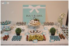 Isa's b-day: tiffany party #tiffany #blue #party #ideas #bday #casadasamigas #decor