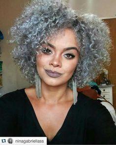 Hair Material: Synthetic Hair Length: 12 Inches Hair Texture: Afro Curly Cap Construction: Capless D 12 Inch Hair, Grey Hair Wig, Curly Hair Styles, Natural Hair Styles, Curly Nikki, Pelo Afro, Pelo Natural, Synthetic Hair, Textured Hair