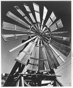 Windmill, 1932 by Ansel Adams Black And White Landscape, Black N White Images, Ansel Adams Photos, Ansel Adams Photography, Landscape Photography, Art Photography, Exposure Photography, Cap Vert, Fotografia Macro