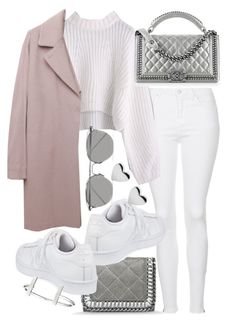 """""""Untitled #20322"""" by florencia95 ❤ liked on Polyvore featuring Topshop, Chanel, Maison Margiela, STELLA McCARTNEY, adidas, Linda Farrow and French Connection"""