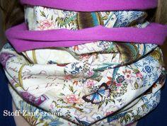Loop Shabby Vintage Nostalgie Kolibri Schrift von Stoff-Zaubereien auf DaWanda.com