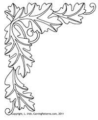 photo relating to Free Printable Leather Tooling Patterns named Cost-free Picket Carving Leaf Habits