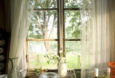 yes to huge windows and billowing curtains. Window View, Open Window, Through The Window, Humble Abode, Country Life, Country Charm, Country Farmhouse, Country Kitchen, Country Living