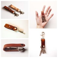 Leather Key Lanyard by CordAndSatchel on Etsy