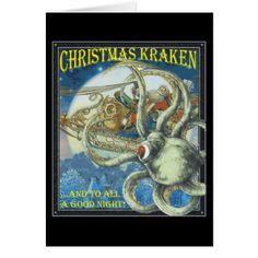 Christmas Kraken Card - click/tap to personalize and buy