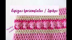 ESPIGAS HORIZONTALES DE CROCHET. REVERSIBLE / CROCHET SPIKES. REVERSIBLE