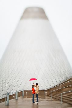 Tacoma Museum of Glass engagement photography