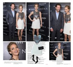 """""""Jennifer Lawrence"""" by itaylorswift13 ❤ liked on Polyvore featuring Balmain, Gianvito Rossi and Chanel"""