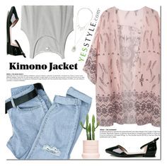 """""""Kimono cover"""" by purpleagony ❤ liked on Polyvore featuring Hotprint, Monki, Madewell, Forever 21, flats, kimono and yesstyle"""