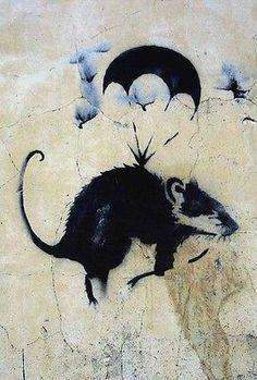 Parachute Rat, Banksy