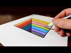 How to Draw an Easy Anamorphic Hole for Kids - Trick Art on Paper - YouTube