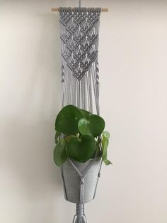 Macrame plant pendant wall decoration wall planter green