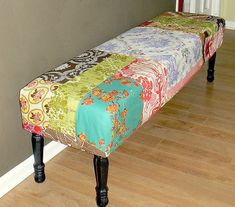 DIY Patchwork Bench Cover | Flickr - Photo Sharing!